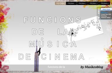 funcions música al cinema